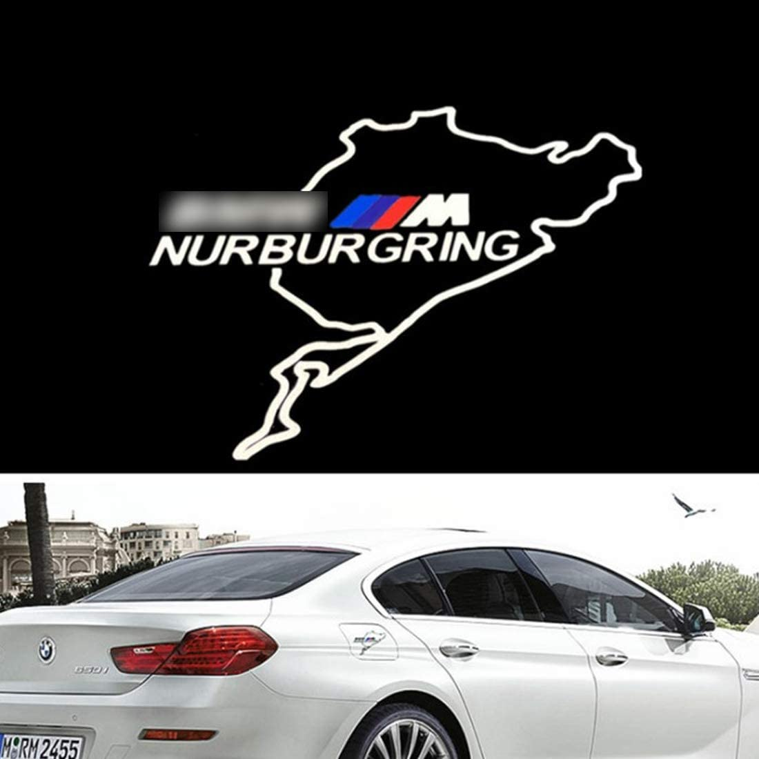 Demino Car Decoration M Performance Decals Tank Stickers for for Gas Fuel Tank Cap Cover Window Bumper Glass Door Stickers for BMW
