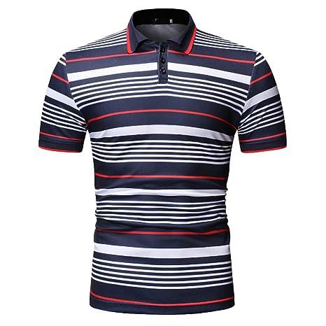 XJWDTX Camisa Polo Delgada De Moda Casual De Verano para Hombre.: Amazon.es: Deportes y aire libre
