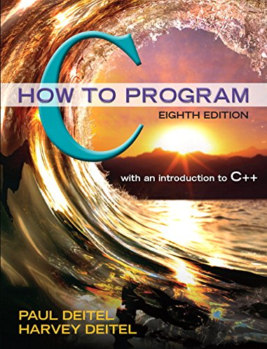 C How to Program (8th Edition) by Pearson