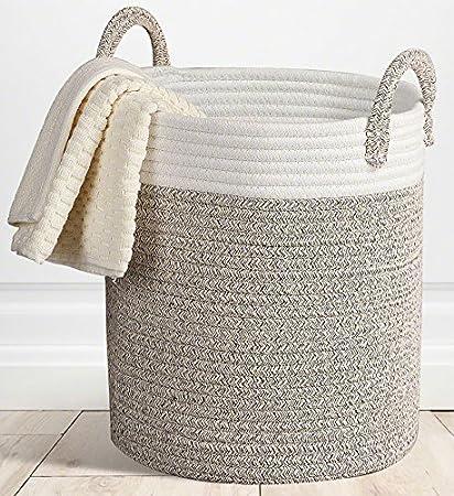 storage baskets tall organization with decor you theroux decorative water wayfair wicker basket love ll handles hyacinth