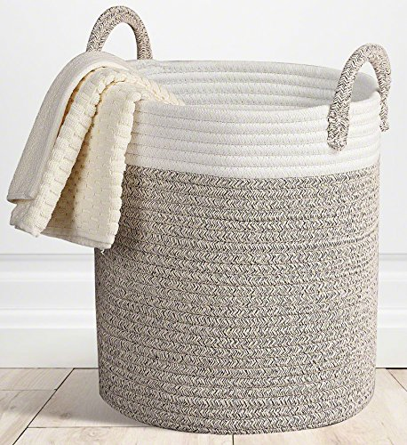 Storage Baskets Large Terracotta Woven Basket, 15