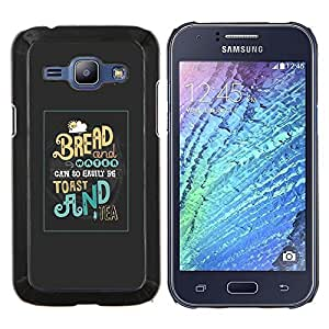 LECELL--Funda protectora / Cubierta / Piel For Samsung Galaxy J1 J100 -- Tostadas de pan de té Desayuno Comida de la mañana --