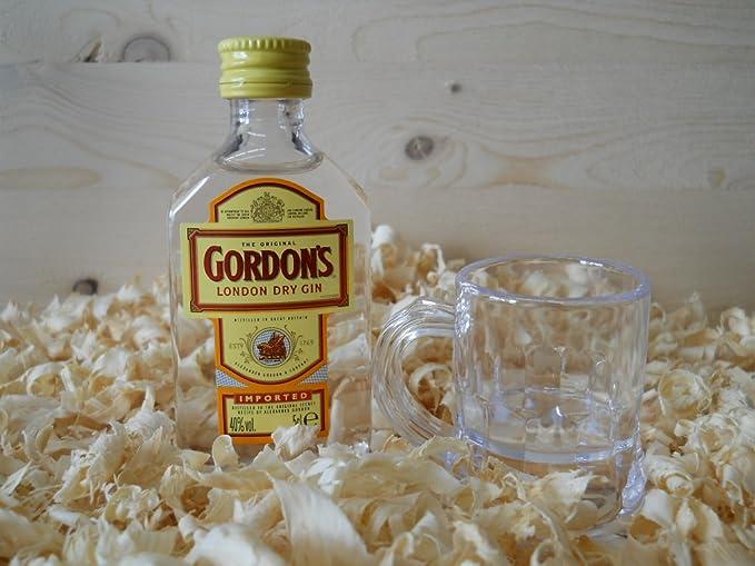 Botellin miniatura Ginebra Gordon´s con vasito chupito - Pack de 6 ...