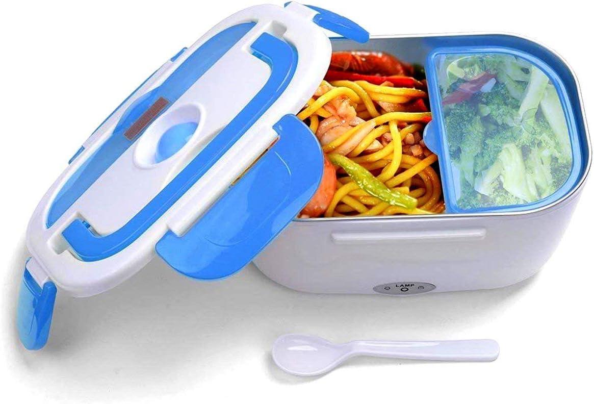 JOYOOO Caja de almuerzo eléctrica desmontable, caja de almuerzo calentada,potencia antifugas extraíble y revestimiento inoxidable Bandeja , fácil de limpiar 40 vatios: Amazon.es: Hogar