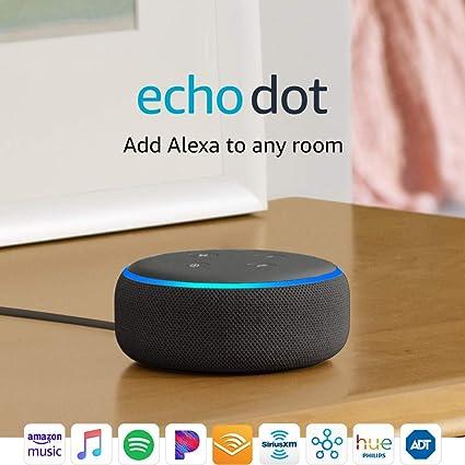 Amazon Com Echo Dot 3rd Gen Smart Speaker With Alexa