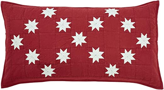 Kent CAL KING Farmhouse BRIGHT RED//Creme Stars *Choose Your Accessories