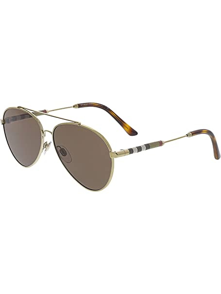 8572a4fecce3 Burberry Women's Mirrored BE3092Q-114573-57 Brown Aviator Sunglasses ...