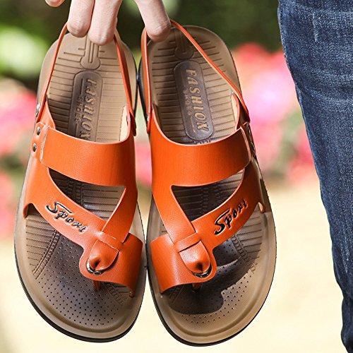 L'été chaussuresdeplage orange38385 lespiedsdeshommes tongs loisirsetconfort sandales Zhangjia versioncoréenne UwtRwq