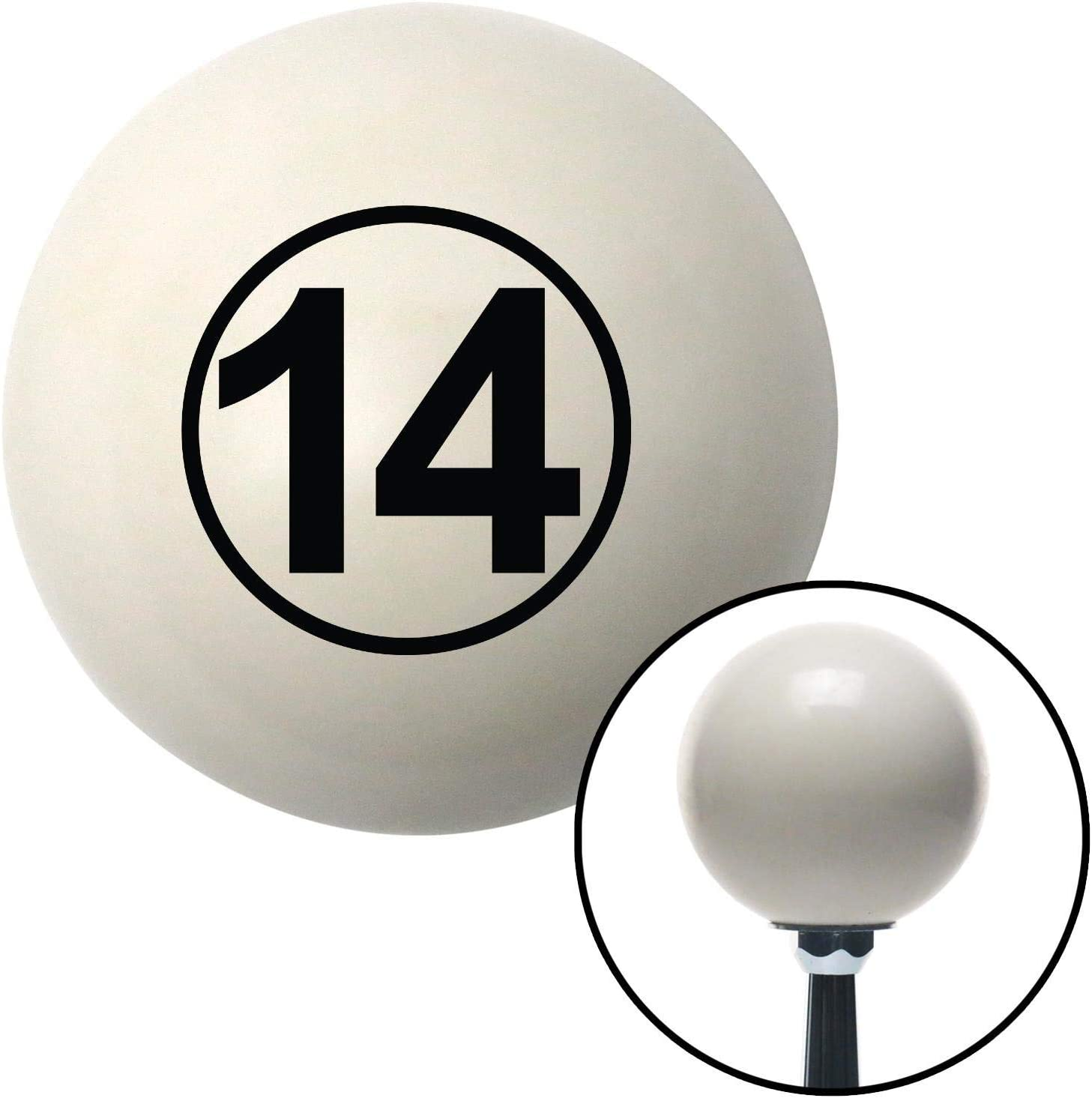 Red Ball 7 American Shifter 30325 Ivory Shift Knob with 16mm x 1.5 Insert