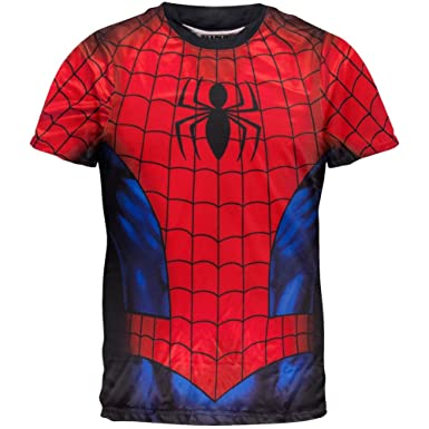 Amazon.com: Spider-Man - Spidey Shaba Sublimation Costume T-Shirt ...