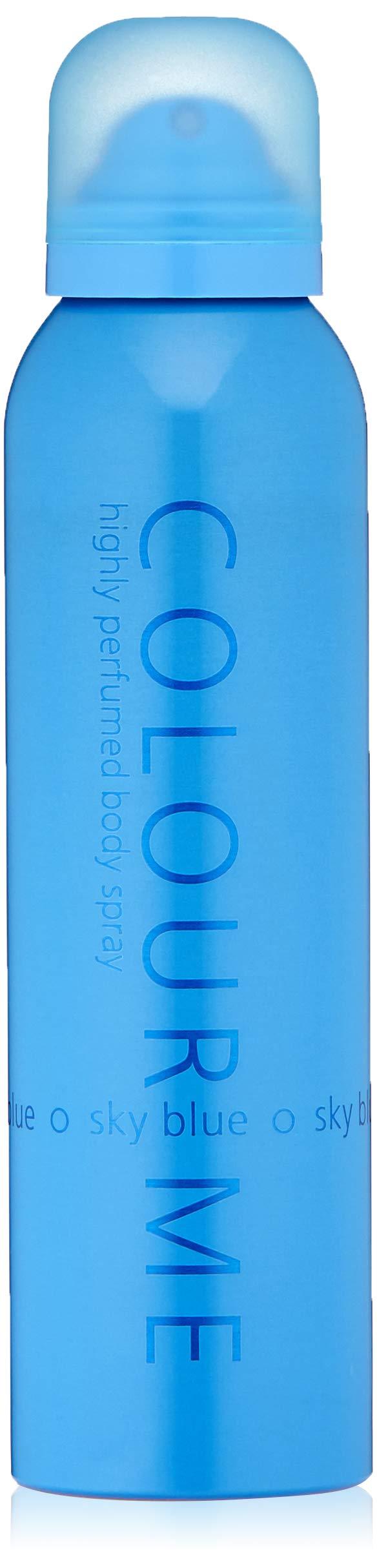 Colour Me | Sky Blue | Body Spray Mist | Womens Fragrance | Chypre Floral Scent | 5.1 oz. (Color: Sky blue, Tamaño: 5.1 oz Body Spray)