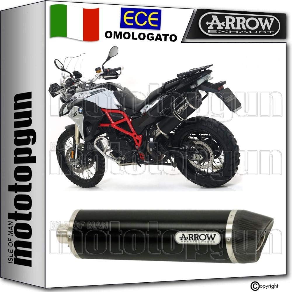 ARROW SCARICO OMOLOGATO RACE-TECH CON FONDELLO INOX IN ALLUMINIO COMPATIBILE CON HONDA NC 700 X 2012 12 2013 13 71796AO