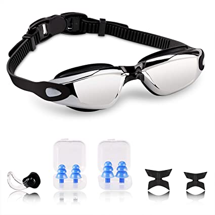 VACNITE Gafas de natación, Antiniebla Protección UV Sin Fugas con ...