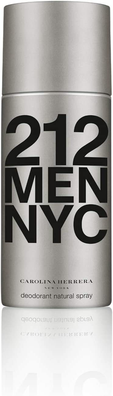 Carolina Herrera Homme, 212Men NYC Deodorant Natural Spray, 150g