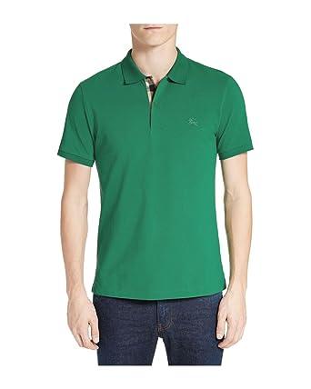 efa113431610 BURBERRY Brit - Polo pour Homme Oxford - Vert (Bright Fern Green), 3XL