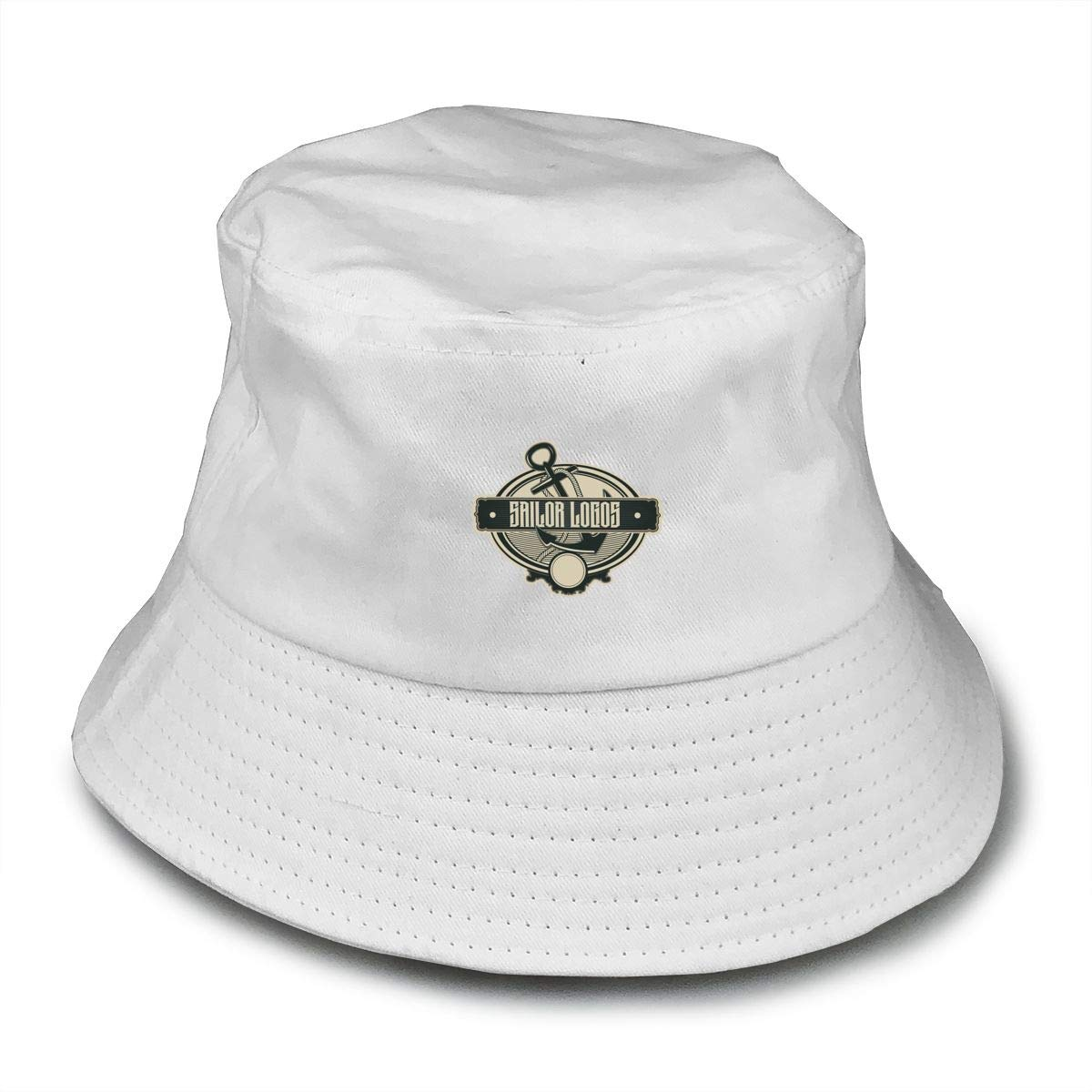 NDFGR Nautical Sign Unisex Cotton Packable Black Travel Bucket Hat Fishing Cap