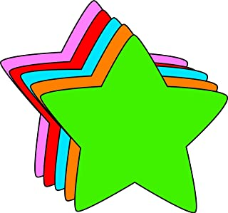 """product image for Star Small Assorted Color Creative Cut-Outs, 3"""" x 3"""", 31 Star Cutouts to a Package"""