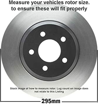 Fits Max Brakes Front Carbon Ceramic Performance Disc Brake Pads KT053551 2012 12 Dodge Grand Caravan w//302mm Front Rotor and Single Piston Front Calipers