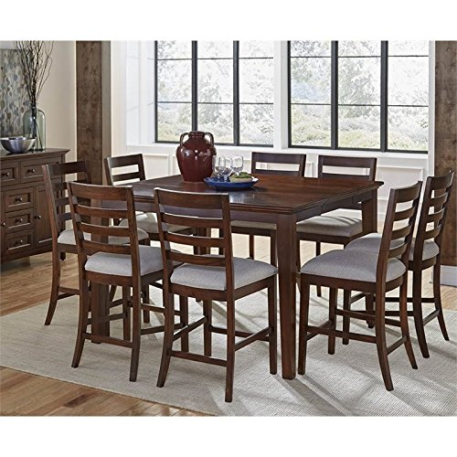 A-America Westlake 9 Piece Extendable Counter Height Dining Set