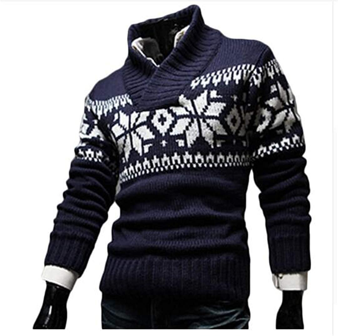 Sweater Men Autumn Jersey Jacquard Male Sweater Slim Knitted Mens Sweaters Men Pullovers