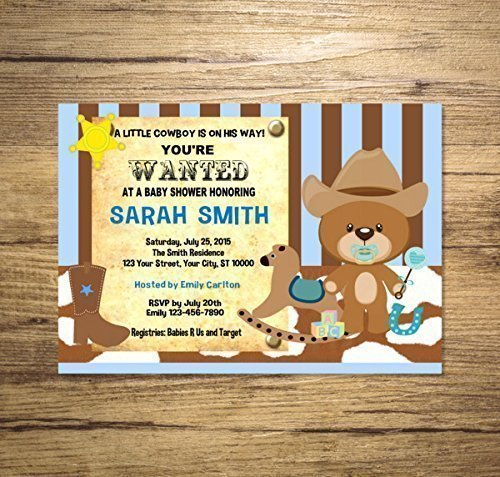 Amazon Com Western Cowboy Baby Shower Invitation Western Cowboy