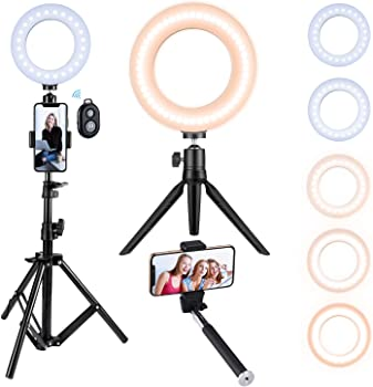 VicTsing Ring Light with Tripod Stand