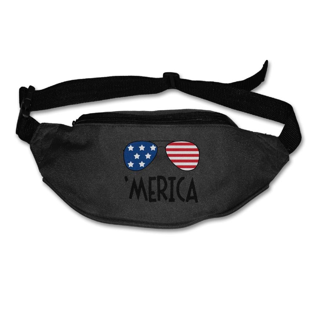 Homlife Waist Purse Merica Colorful Sunglasses Logo Unisex Outdoor Sports Pouch Fitness Runners Waist Bags