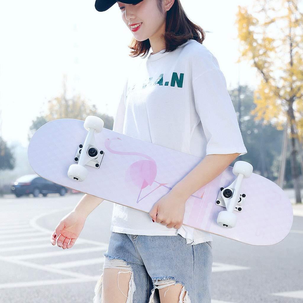 数量は多 DUWEN A) スケートボード初心者大人の女の子ティーンブラシストリートダブルロッカー子供四輪スクーター(フラッシュホイール付き) (色 (色 : A) B07NQ5H439 D DUWEN D, PROHANDS ショップ:ace5c231 --- a0267596.xsph.ru