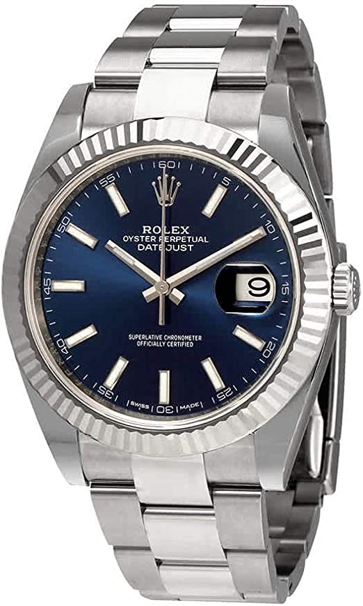 Amazon.com Rolex Oyster Perpetual Datejust 41 Blue Dial