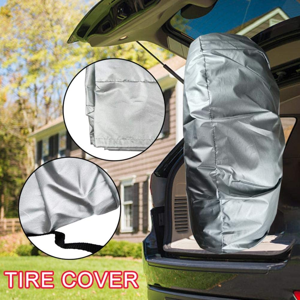 ckground Tire Covers Wheel Storage Bag Waterproof Aluminum Film Spare Tire Cover Dustproof Wheel Protectors with Handle