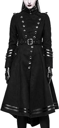 Long Manteau gothique femme PUNK RAVE style militaire en