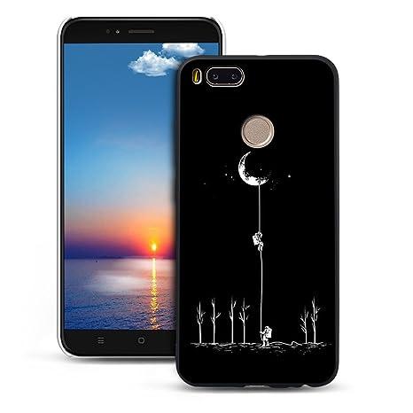Mosoris Funda Xiaomi MI A1, Carcasa Suave Negro Silicona ...