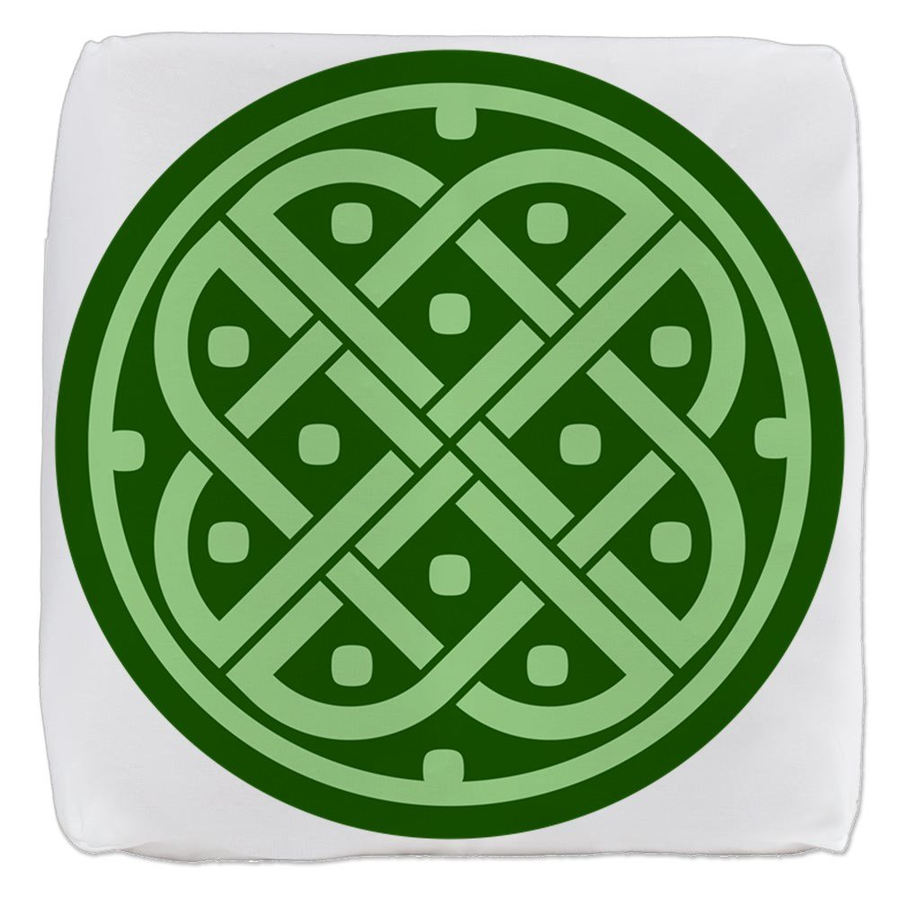 18 Inch 6-Sided Cube Ottoman Celtic Knot Interlinking by Royal Lion