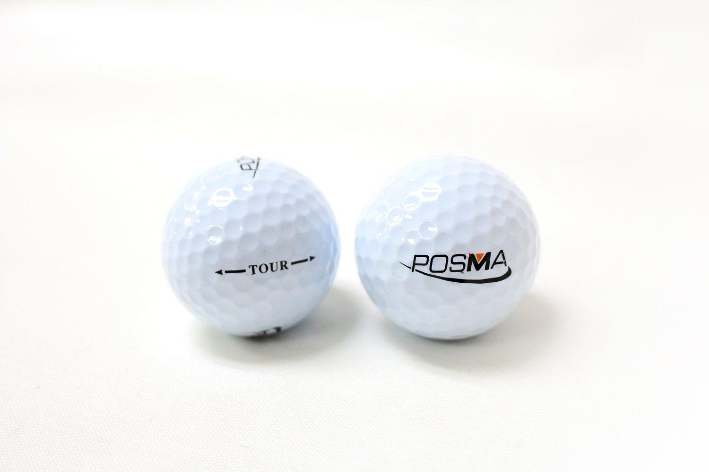 POSMA HM020A 30x60cm Golf Practice Double Side Hit Mat bundle Gift set with 3pcs Rubber Tee + 2pcs Tour Balls + 6pcs Golf Balls + 1pc Portable Golf Chipping Hitting Net for indoor by POSMA (Image #4)