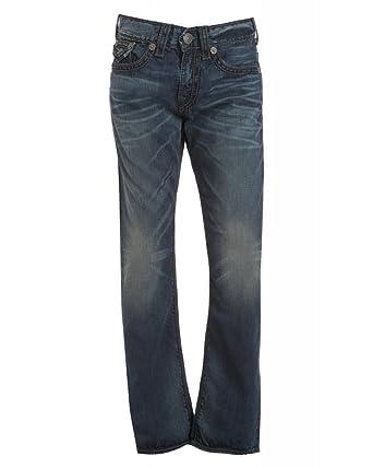 217214b4b True Religion Jeans Dark Vintage  Ricky Rope Stitch  Straight Leg Jean   Amazon.co.uk  Clothing