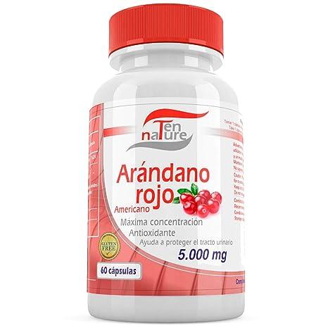 Cápsulas de Arándano Rojo 5000mg x 60 cápsulas + Vitamina C ...