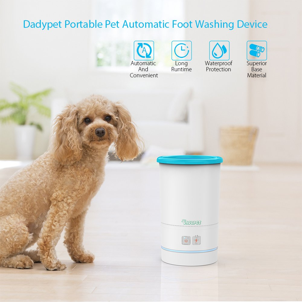 Dadypet Dog Paw Cleaner Portable Pet Automatic Foot Washing Device