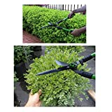 "WilFiks Hedge Shears for Professional Gardening and Landscaping - 25"" Hedge Clippers with Carbon Steel Blade, Comfortable Handle, Wavy Blade, Absorb Shock Garden Trimmer for Grass, Bushes, Branches"