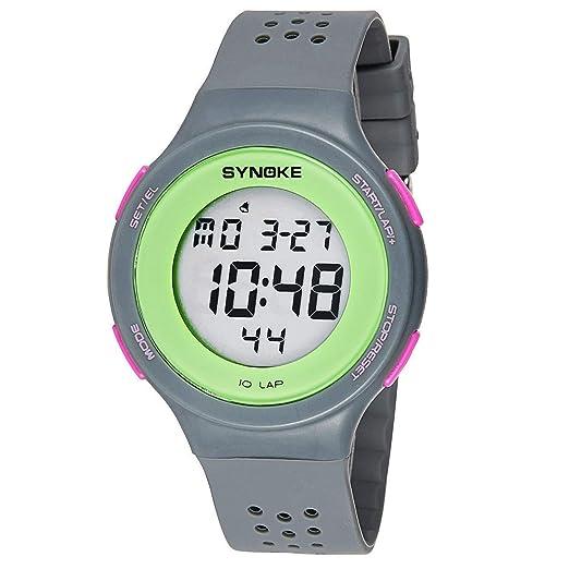 Yajiemei LED Ultrafino natación a Prueba de Agua Reloj Digital poroso Transpirable Moda (Color : Gray): Amazon.es: Relojes