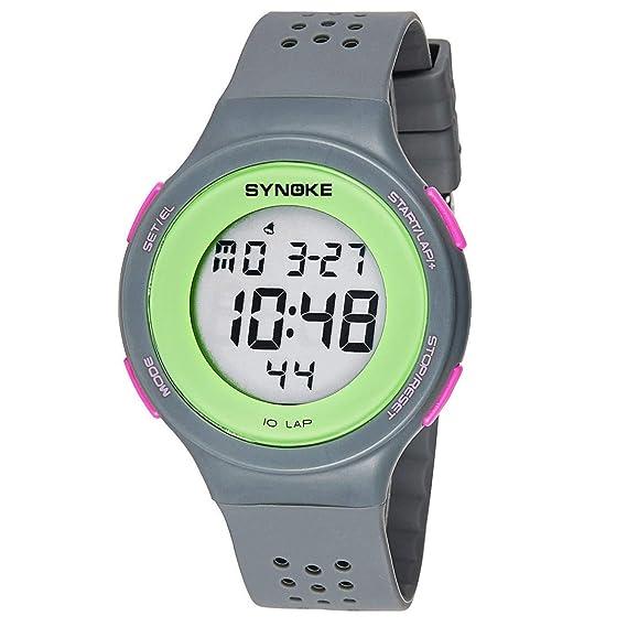 Nalkusxi LED Ultrafino natación a Prueba de Agua Reloj Digital poroso Transpirable Moda (Color : Gray): Amazon.es: Relojes
