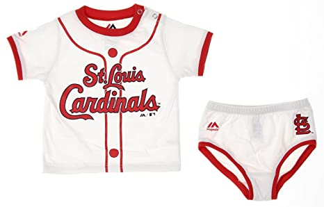 2b17fd57 Majestic MLB St. Louis Cardinals Infants Baby Boy Player Tee & Bottom Set,  White