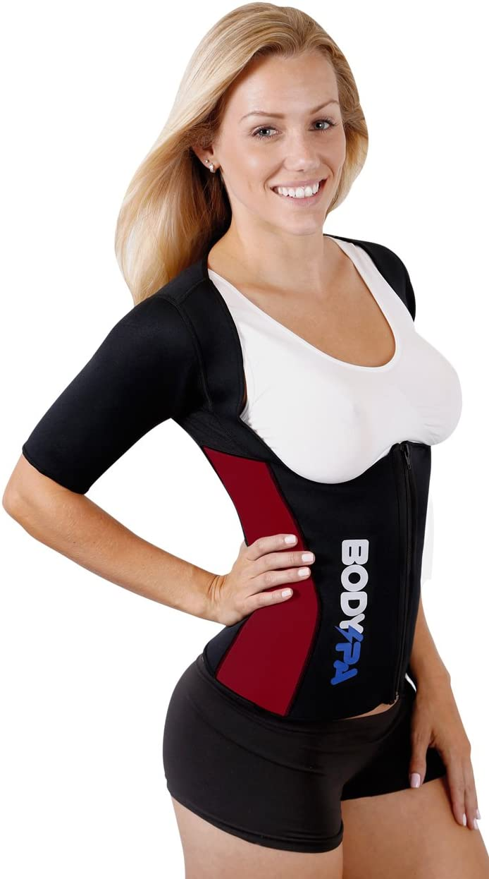Body Spa Light Neoprene Vest with Sleeves Exercise Gym Sauna Shaper Weight Loss
