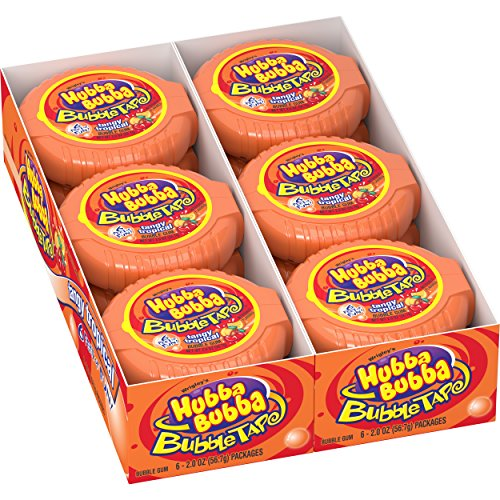 Hubba Bubba Tangy Tropical Bubble Gum Tape, 2 ounce (12 rolls)