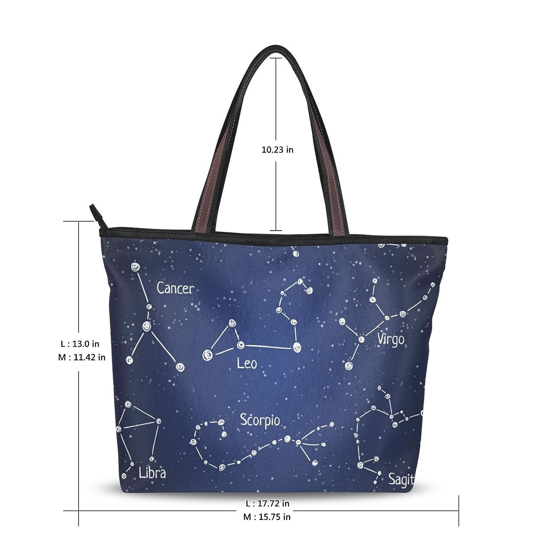 WHBAG Lightweight Handbag For Women,12 Constellation Star,Shoulder Tote Bag