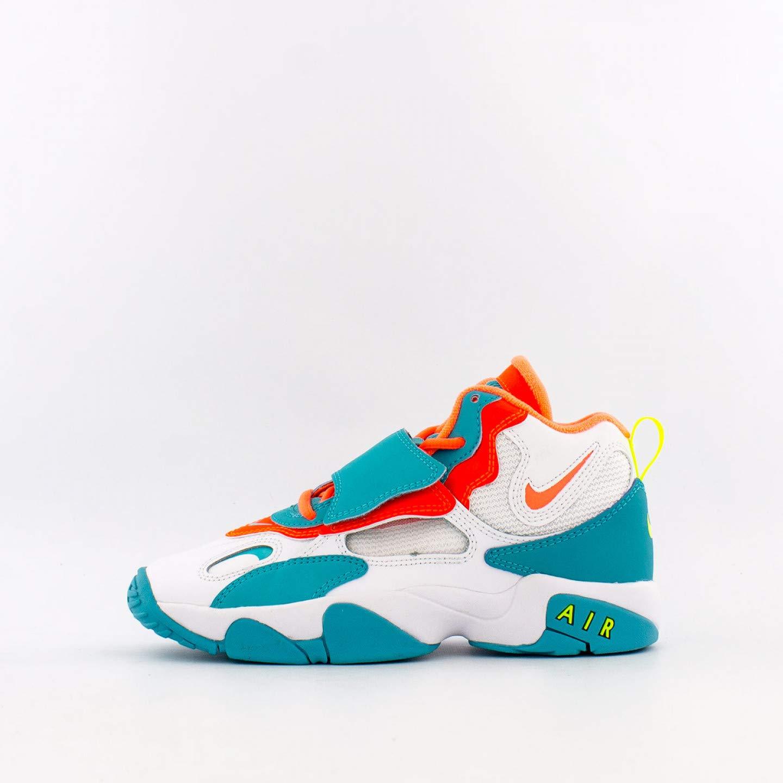 Nike Air Speed Turf (gs) Kids Big Kids Bq9632-101 Size 5, White/Bright Mango