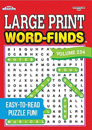 - Large Print Word-Finds Puzzle Book - Volume 234