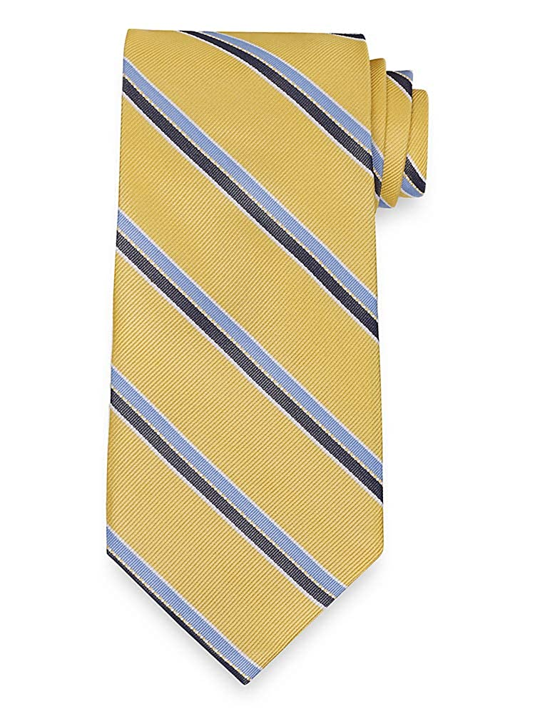 Paul Fredrick Mens Stripe Silk Tie