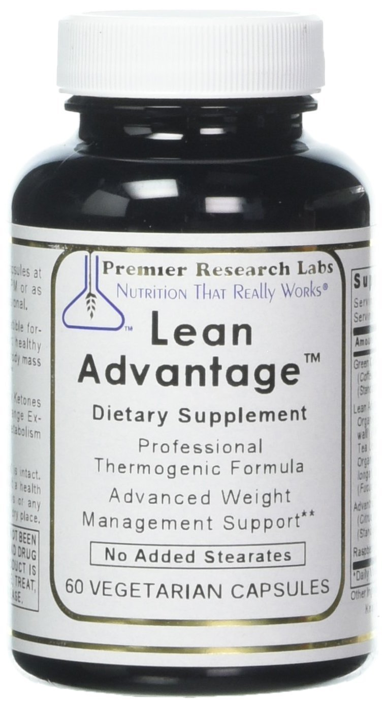 PREMIER RESEARCH LABS Lean Advantage – Weight Management, Glucose Response and Sustain The Ratio of Lean Muscle to Total Body Mass 60 Vegetarian Capsules – Pack of Two