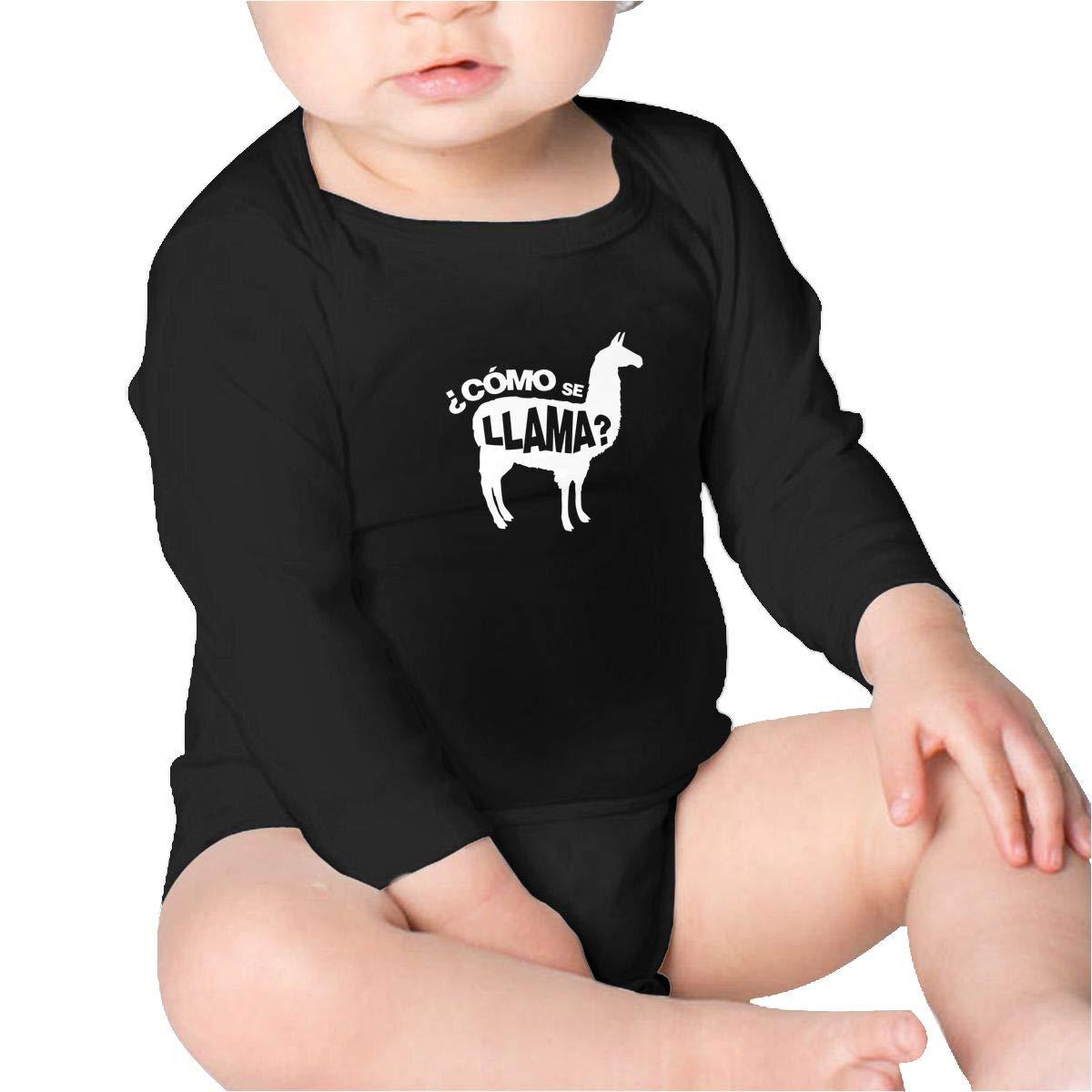 Como Se Llama Pun Funny Humor Joke Baby Cotton,Long Sleeve Baby Romper