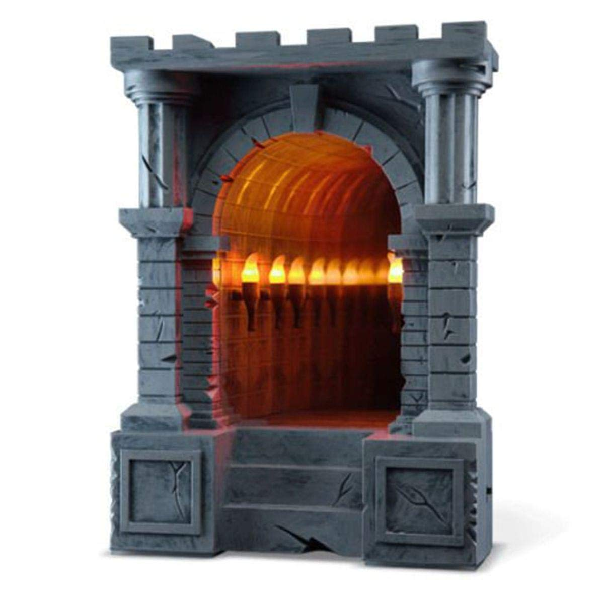 A ThinkGeek Creation and Exclusive 816A2 ThinkGeek Infinite Illuminated-Torch-Lined Dungeon Corridor Infinity Mirror Geeky Desk or Wall Accessory